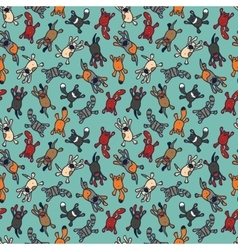 Bright seamless pattern with cute cartoon pets vector image vector image