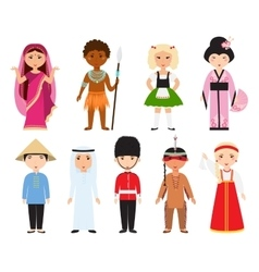 Different nations people vector image vector image
