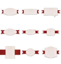Festive realistic Banners with Ribbons Set vector image vector image
