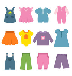 pants dresses and other different clothes for vector image