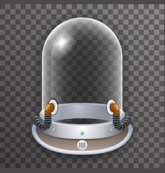 retro realistic helmet 3d cosmonaut astronaut vector image