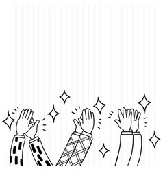 004-hand drawn human clapping ovation applaud vector