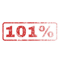 101 percent rubber stamp vector