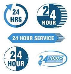 24 hours service logo and icon vector