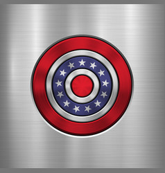 4th july independence day badge vector image