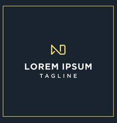 Ad or nd monogram logo vector
