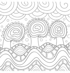Adult coloring bookpage a nature abstract vector
