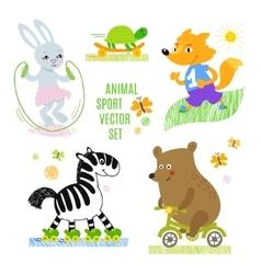 Animals sport set vector