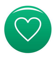 Ardent heart icon green vector