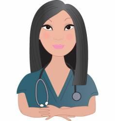 Asian nurse vector