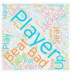Bad Beat text background wordcloud concept vector image