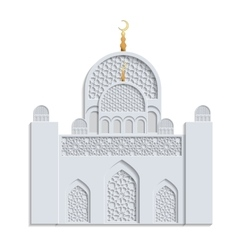 Beautiful islamic mosque vector