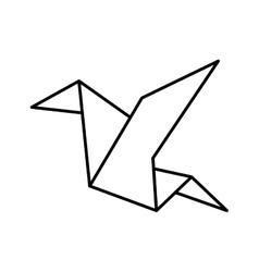 Bird icon Origami design graphic vector
