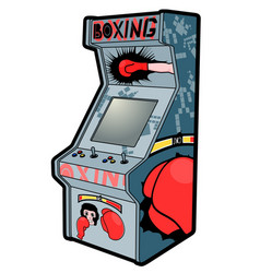 boxing retro arcade vector image