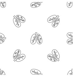 bronchitis lungs pattern seamless vector image