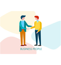 business agreement of men shaking hands vector image