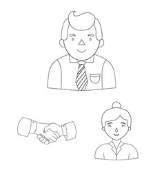 Business conference and negotiations outline icons vector