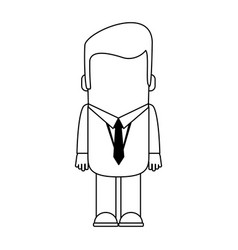 businessman executive avatar in black and white vector image