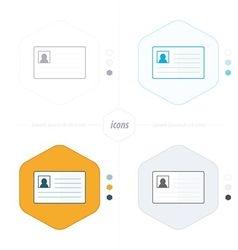 card icon 4 design vector image