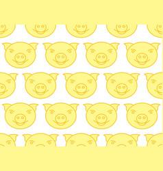 cartoon pig pattern vector image