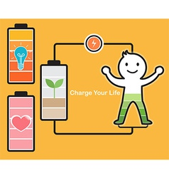 Charge Life vector image