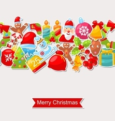 Christmas Holiday Seamless Texture vector image