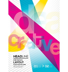 Cmyk Abstract design layout background vector