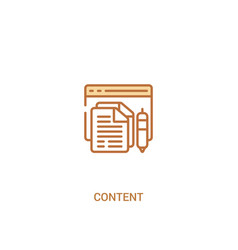 Content concept 2 colored icon simple line vector