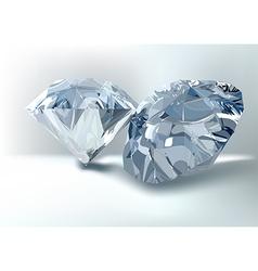 Cut of gemstones round diamond vector
