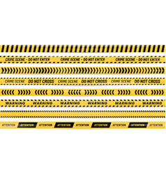 danger ribbon alert stripes warning tape and vector image