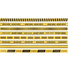 Danger ribbon alert stripes warning tape and vector
