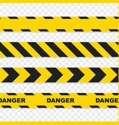 danger tapes set on transparent background vector image