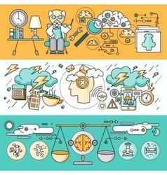 Diagnosis brain psychology flat design vector