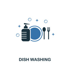 dish washing icon creative two colors design from vector image