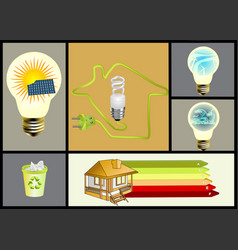 ecology and alternative energy set vector image