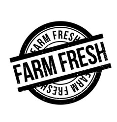 farm fresh rubber stamp vector image