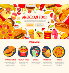 Fast food restaurant menu banner template vector
