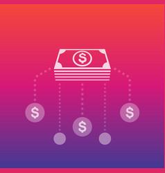 financial assets diversification interest return vector image