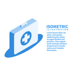 first aid kit icon isometric template in flat 3d vector image