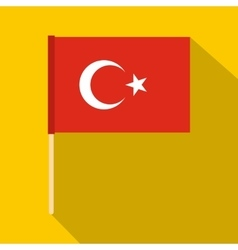 Flag of Turkey icon flat style vector