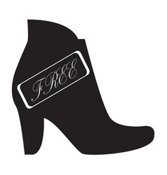 flat black free shoes sign icon vector image