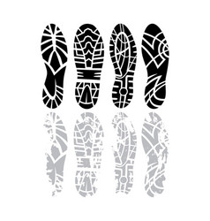footprint set vector image