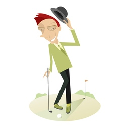 Gentleman on the golf course vector image