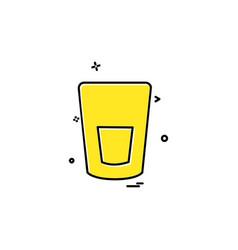 glass icon design vector image
