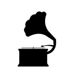Gramophone black icon vector image