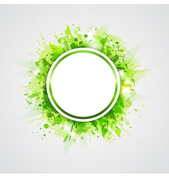 Green abstract shining round background vector image