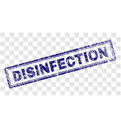 Grunge disinfection rectangle stamp vector