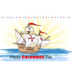 happy columbus day vector image