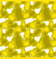 Hard cider seamless pattern vector