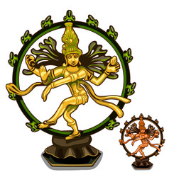 Hindu figurines of cali on white background vector